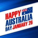Lycklig Australien dag januari 26 hälsningkort royaltyfri illustrationer