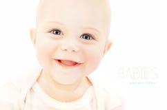 lycklig babyansikte Arkivbild