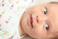 Lycklig babyansikte arkivbilder