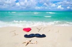 Lycklig bakgrund för dag för fader` s på Miamiet Beach arkivfoto