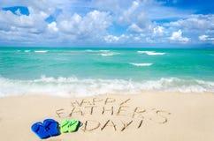 Lycklig bakgrund för dag för fader` s på Miamiet Beach Royaltyfria Bilder
