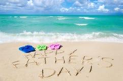 Lycklig bakgrund för dag för fader` s på Miamiet Beach Arkivbild