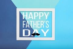 Lycklig bakgrund för dag för fader` s Abstrakt mångfärgad pappers- texturminimalismbakgrund royaltyfri bild