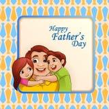 Lycklig bakgrund för hälsningar för dag för fader` s vektor illustrationer