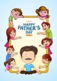 Lycklig bakgrund för hälsningar för dag för fader` s royaltyfri illustrationer