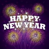 Lycklig bakgrund för nytt år Royaltyfria Bilder