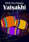 Lycklig bakgrund för religiös ferie för Vaisakhi Punjabi för festival för nytt år av Punjab Indien stock illustrationer