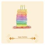 lycklig bakgrundsfödelsedag vektor illustrationer