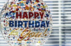 lycklig ballongfödelsedag royaltyfri fotografi