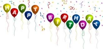 lycklig ballonsfödelsedag Arkivbilder