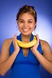 lycklig banan arkivbilder