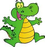 lycklig banhoppning för alligator stock illustrationer