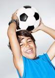 lycklig banhoppning för pojke Royaltyfria Bilder