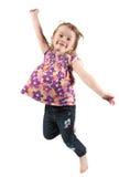 lycklig banhoppningförträning för flicka royaltyfria foton