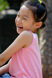 lycklig barnkines royaltyfri foto