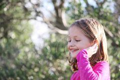 lycklig barnkvinnlig Royaltyfri Foto