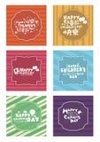 Lycklig barns räkning för dagkort med olikt språk Arkivbild