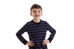 Lycklig barnstående Fotografering för Bildbyråer