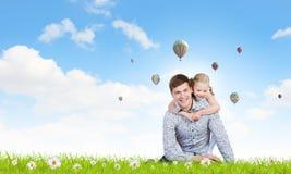 Lycklig barnuppfostran Arkivfoton
