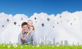 Lycklig barnuppfostran Fotografering för Bildbyråer