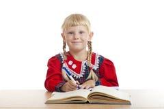 Lycklig barnwriting Royaltyfri Bild