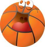 lycklig basket Arkivbilder