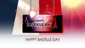 Lycklig Bastilledag royaltyfri illustrationer