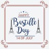 Lycklig Bastilledag 14th Juli Royaltyfri Bild
