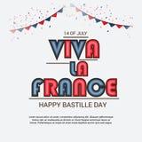 Lycklig Bastilledag 14th Juli Royaltyfri Foto