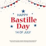 Lycklig Bastilledag 14th Juli Fotografering för Bildbyråer