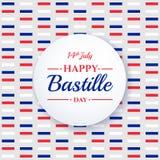 Lycklig Bastilledag 14th Juli Franskaferie Arkivfoton