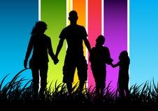 lycklig begreppsfamilj Arkivfoton