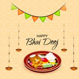Lycklig Bhai Dooj beröm vektor illustrationer