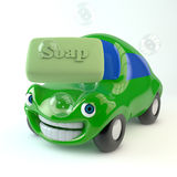 Lycklig bil Fotografering för Bildbyråer