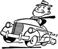 Lycklig bilist vektor illustrationer
