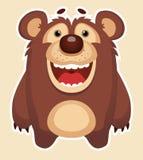 lycklig björn Arkivfoton