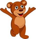 Lycklig björntecknad film royaltyfri illustrationer