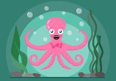 lycklig bläckfisk stock illustrationer