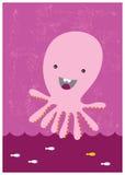 lycklig bläckfisk Fotografering för Bildbyråer