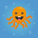 lycklig bläckfisk Arkivfoto