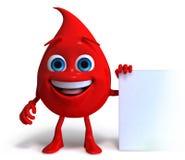 lycklig blodliten droppe stock illustrationer