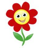 lycklig blomma Arkivbilder