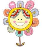 lycklig blomma Arkivbild
