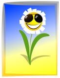lycklig blomma vektor illustrationer