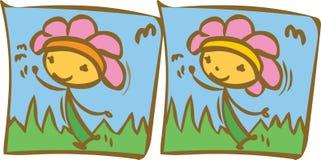 Lycklig blommaskillnad Arkivbilder
