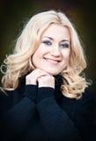 Lycklig blond kvinna fotografering för bildbyråer