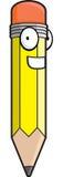 lycklig blyertspenna vektor illustrationer