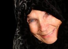lycklig bondaktig kvinna Arkivbilder