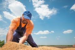 Lycklig bonde Fotografering för Bildbyråer