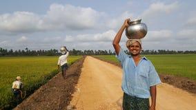 lycklig bonde Royaltyfri Fotografi